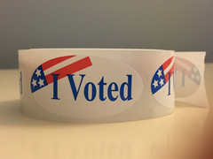 picture of I voted sticker