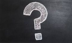 Image of a chalkboard with a question mark drawn on it.