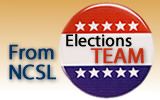"A graphic that reads ""From NCSL Elections Team"""
