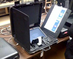 A photograph of an electronic voting machine used in Arlington, Virginia.