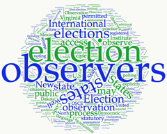 Wordcloud related to international election observers