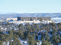 A view from Pueblo de San Ildefonso land of Technical Area 54 for onsite disposal radioactive waste at Los Alamos National Lab.