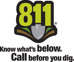 811 logo call before you dig.