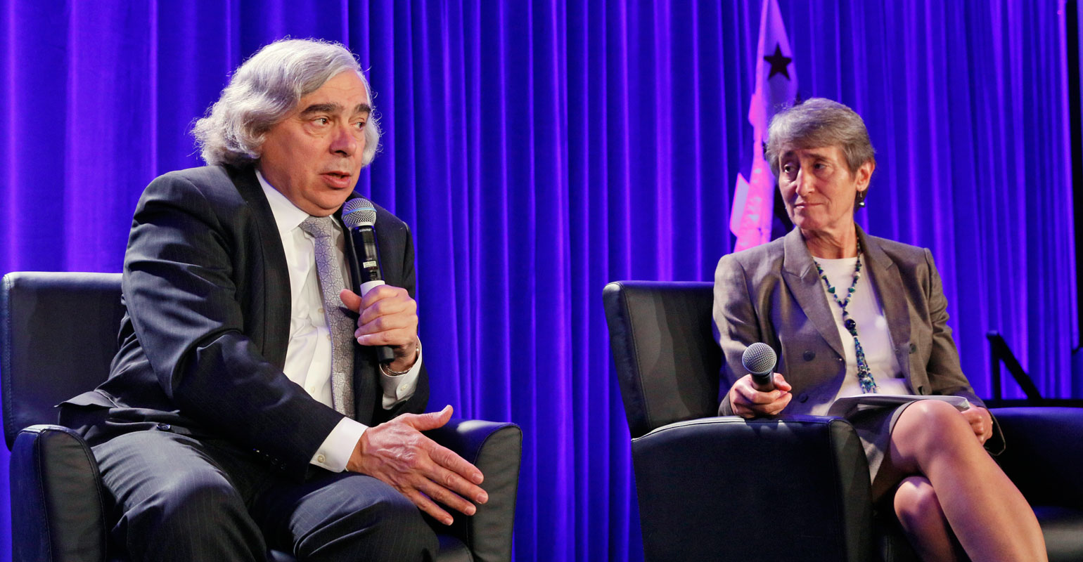 Energy Secretary Ernest Moniz and Interior Secretary Sally Jewell spoke to the National Tribal Energy Summit on Sept. 24, 2015.
