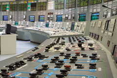 Nuclear power plant control room.