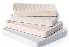 A stack of mattresses.