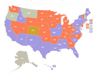 Map of how much states are losing in sales tax