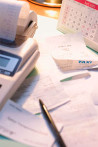 Picture of calculators and receipts