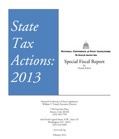 State Tax Actions 2013