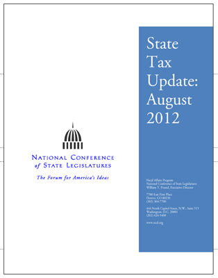 State Tax Update: August 2012