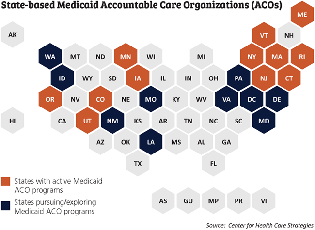 State-based medicaid Accountable Care 50-state map