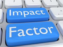 Keyboard with the words Impact Factor