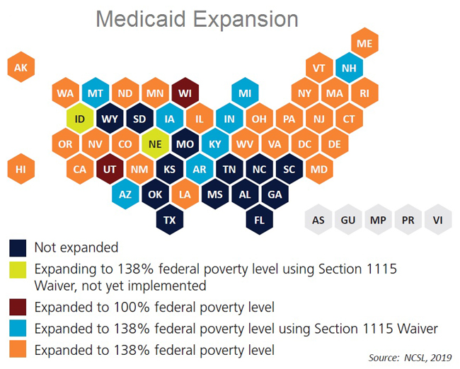 Medicaid Expansion Map 2019