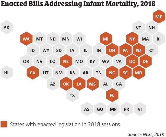 enacted bills infant mortality map