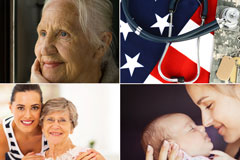 health insurance customers collage
