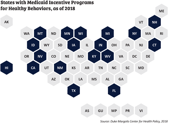 medicaid incentives 50-state map