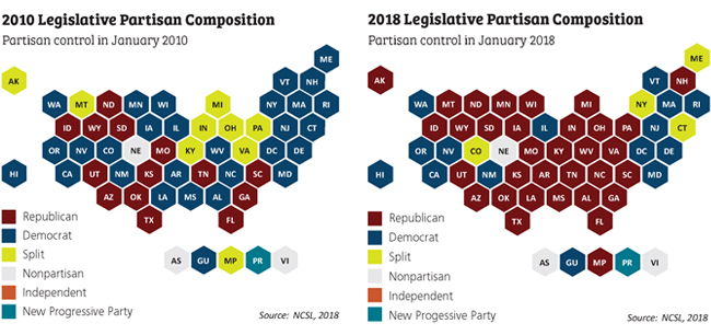 legislative composition map