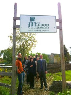 Legislators at The Food Project in Boston