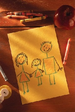Kid's drawing of family
