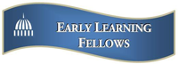 Early Learning Fellows in a blue ribbon with a capitol dome