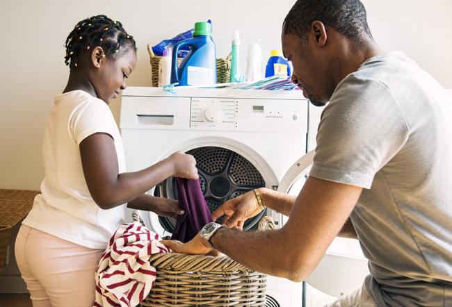 daughter father laundry