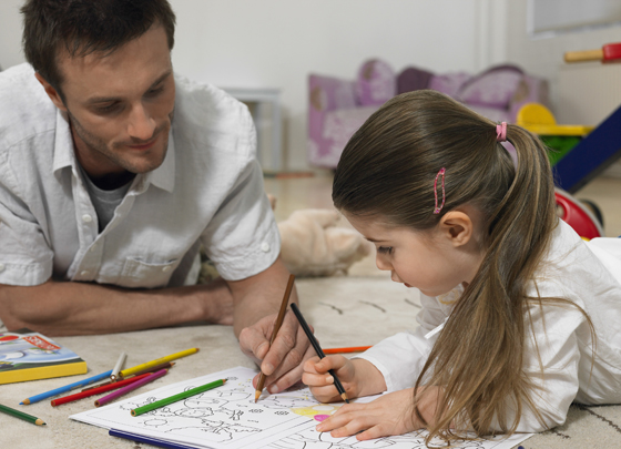 father daughter coloring book