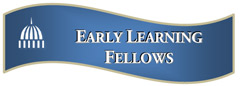 Wavy blue early learning fellows logo