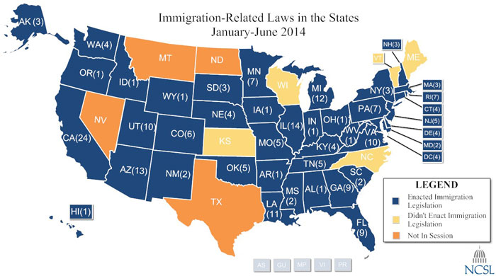 2014 Immigration Map