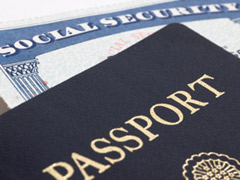Passport and Social Security card
