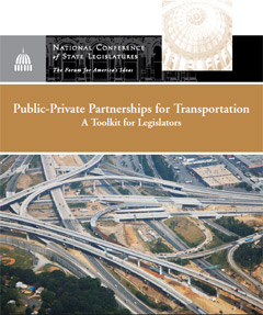 Report cover for NCSl transportation report.