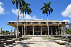 A photo of the Hawaii State Capitol
