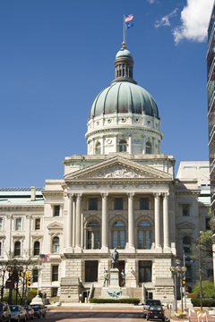 A photo of the Indiana State Capitol