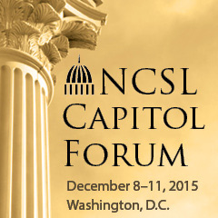 NCSL Capitol Forum with capitol dome and pillar