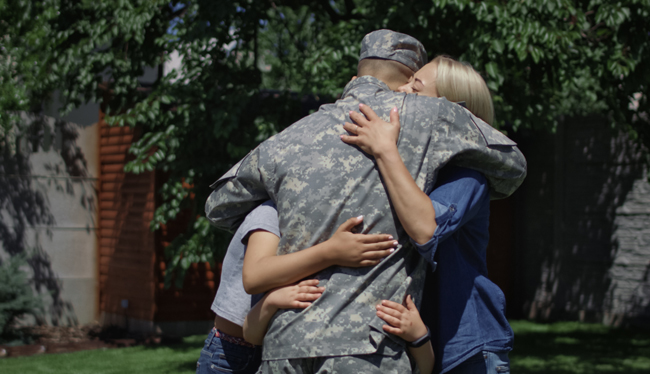 military spouse family