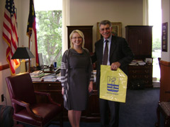 Anna Tomchik and Speaker Joe Hackney in the North Carolina Legislature