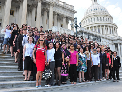 all LFP fellows on Capitol steps