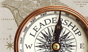 Compass displaying leadership