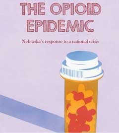 Cover design of the Nebraska Opioid Epidemic reports