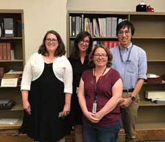 A photo of the 4 Huntington Librarians