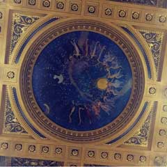 "A photo of the rotunda painting in the PA House. Titled ""The Hours"""