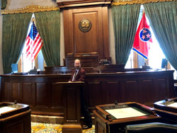 Eddie in the Tennessee House of Representatives