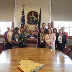 A photo of the LRL group in side the Maine State Capitol