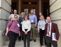 A group photo of LRL members outside the Tennessee State Capitol