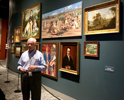 A photo of Dan Pomeroy during the LRL tour of the Tennessee State Museum