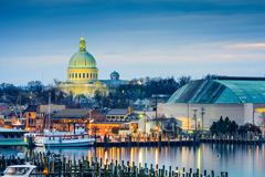Annapolis Maryland with State House in background