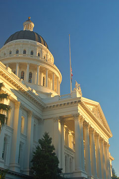 Photo of the dome of the California Capitol in Sacramento.