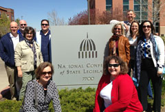 Picture of NLPES Executive Committee in front of NCSL building