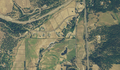 Aerial image and parcel boundaries for some land in Washington
