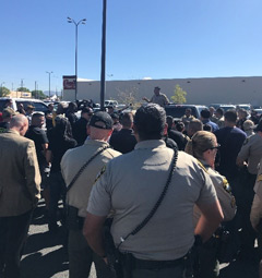 Image of a crowd in New Mexico