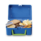 Graphic of a lunch box with food
